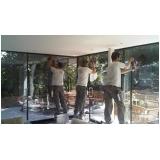 polimento de vidro de sacada