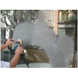 polimento de vidros residenciais